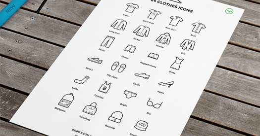 24 Free Clothes Icons (AI)