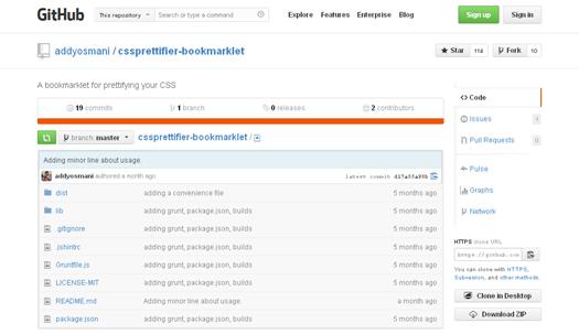 CSS Prettifier Bookmarklet