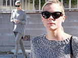 Jaime King shows off her trim post-pregnancy figure in fitted jeans just one month after giving birth