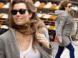 She could be filming a commercial! Jessica Biel's still just as stunning as her long locks get whipped around during stroll in the breezy Big Apple