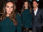 Tamara Ecclestone and Jay Rutland arrive at the Adelphi Theatre on The Strand in London fora performance of West End play The Bodyguard