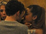 An appetite for love: Ariana Grande and The Wanted's Nathan Sykes canoodled over a dinner at Manna restaurant in Primrose Hill, London on Thursday evening