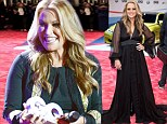 Anastacia accepts humanitarian award after undergoing a double mastectomy to treat breast cancer