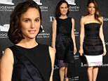Divas unite! Natalie Portman is swanlike in black couture dress as she joins classy beauty Jessica Biel at museum gala