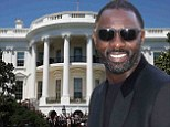 Driis in the (White) House! Idris Elba rubs shoulders with Barack Obama at screening of Nelson Mandela movie in Washington