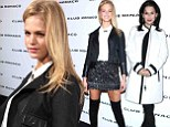 Erin Heatherton wears racy over-the knee boots to Club Monaco reopening... while Hilaria Baldwin is chic in a white winter coat