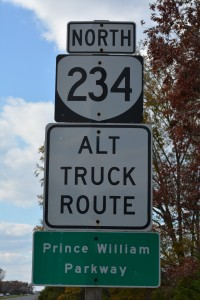 The Prince William County Parkway at Dumfries Road (Route 234) in Manassas.