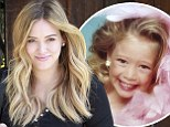 'There are so many things wrong with this!' Hilary Duff posts adorable flashback snap of herself as smiling little girl for throwback Thursday