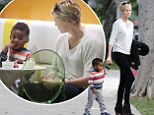 Charlize Theron treats her son Jackson to Pinkberry in West Hollywood