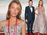 Blake Lively channels Fifties housewife in demure dress as Ryan Reynolds impresses in navy suit at Michael J. Fox fundraiser