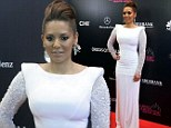Mel B arrives at the 2103 Miss Universe beauty pageant Grand Finale in Moscow
