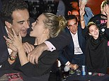 He's even older than me! Olivier Sarkozy, 44, treats girlfriend Mary-Kate Olsen, 27, to a show from crinkly rocker Ronnie Wood