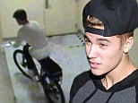 Busted! Justin Bieber gets caught by Las Vegas casino security guards after taking a patrol bicycle for a joyride
