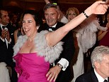 Party time: Michael Middleton joined a conga line at a British Red Cross gala event in Knightsbridge