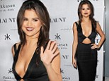 Vampy Selena Gomez amps up her cleavage in revealing cut-out LBD at Flaunt magazine party