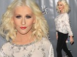 Christina Aguilera shows off her super slim figure in skinny jeans at event to celebrate The Voice's Top 12 contestants