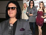 'I will long remember this day': Gene Simmons cries as he honoured for his work with U.S. veterans... as daughter Sophie and wife Shannon show their support