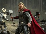 'I am Thor!': Chris Hemsworth in a scene from 'Thor: The Dark World,' which opened No. 1 in the US this weekend