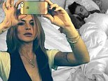 More than just good friends? Lindsay Lohan shares a snap of designer Tal Cooperman asleep in a rumpled bed