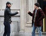 American Reunion: Actors Seann William Scott and Jason Biggs meet up in New York City
