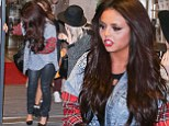 Little Mix star Jesy Nelson has a calamity as she leaves BBC Radio 1 on Sunday