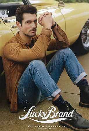DAVID GANDY: After winning ITV's This Morning competition, he has fast becoming the most iconic male model in the world appearing on 25 covers worldwide