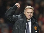Magic moment: David Moyes celebrates beating Arsenal at Old Trafford