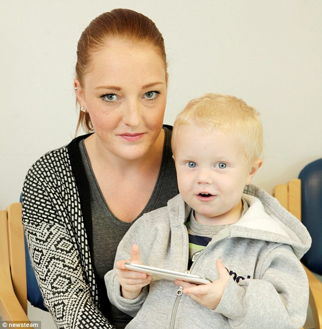 In shock: Stacey Withers downloaded the film 'Madagascar' for her poorly son, Joel, which cost her more than £1,100