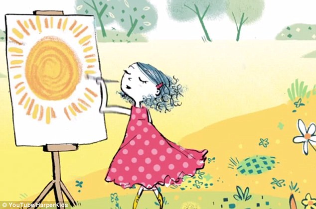 Recharged: But Dot soon finds other activities - like painting and playing with her dog - that entertain her just as much