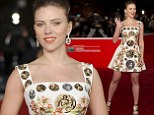 Scarlett Johansson arrives for the screening of the film 'Her' at the 8th edition of the Rome International Film Festival in Rome