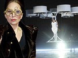 Up, up...and away! Lady Gaga reveals world's first FLYING dress at ARTPOP record release party