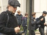 David Beckham made an appearance on the set of The Man From U.N.C.L.E on Saturday