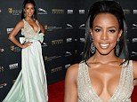 Taking the plunge! Kelly Rowland drops jaws in low-cut dress at BAFTA Britannia Awards