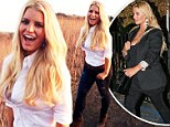 The incredibly shrinking Simpson! Jessica shows off her VERY svelte figure for Weight Watchers shoot... four months after giving birth to son Ace