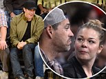 Jake Gyllenhaal trumps Eddie Cibrian and LeAnn Rimes with his prime seats as he sits courtside at the LA Lakers basketball game