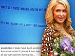 That's one way to get her attention! Mystery admirer attempts to court Paris Hilton by flying two banners in the sky asking for a date with the socialite