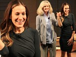 Take a bow: Blythe Danner and Sarrah Jessica Parker acknowledge the audience on Sunday during a preview performance of The Commons Of Pensacola in New York City