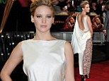 Jennifer Lawrence attends the UK premiere of The Hunger Games: Catching Fire on Monday evening
