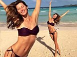 Who needs Baywatch! Gisele Bundchen shows off her supermodel form as she tweets bikini picture