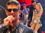 Robin Thicke and Iggy Azalea perform onstage during the MTV EMA's 2013 at the Ziggo