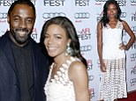Mandela stars Idris Elba and Naomie Harris stand out on AFI red carpet with casual blue blazer and white crocheted dress