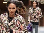 Top model: Joan Smalls looked runway ready on Sunday after watching the New York Knicks basketball game in New York City