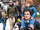 Orlando Bloom distracts himself from Miranda Kerr split by taking son Flynn for day out with grandpa