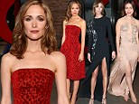 Lily Collins, Rose Byrne and Karlie Kloss show them how it's done at Glamour Awards by slipping into daring embellished gowns