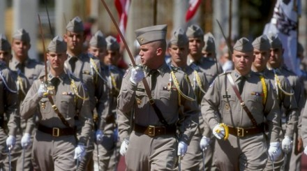 The ROTC squad of the Texas A&M Aggies.