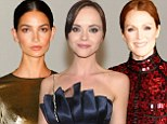 Slicked back and sexy! Christina Ricci, Julianne Moore and Lily Aldridge sport sophisticated updos at glam Vogue event