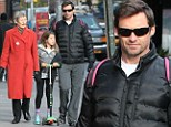 Hugh Jackman proves time heals old wounds as he enjoys family outing with the mother who 'abandoned' him