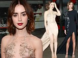 Who's the leggiest of them all? Lily Collins and Karlie Kloss compete for attention at the Glamour Awards in daring gowns