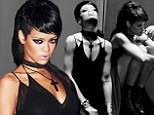 Gothed-out Rihanna teases b&w angsty images from her upcoming What Now music video
