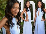 It's all about the shock frock! Naomie Harris stuns in daring dress slashed to navel and derriere at the Hollywood premiere of Mandela